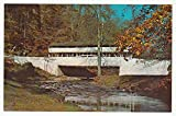 Covered Bridge, Valley Forge Park, Pennsylvania Vintage Original Postcard #0374 - 1970's