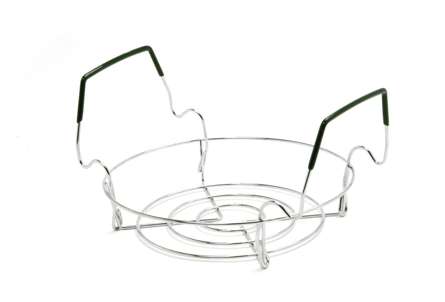 Norpro Chromed Steel Small Folding Canning Preserving Rack; Comfort Grip Handles