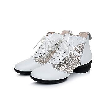 XUE Scarpe da Donna Moderne Scarpe da Ballo Lucide Scarpe Stringate in  Pelle  1ad2ea975b0