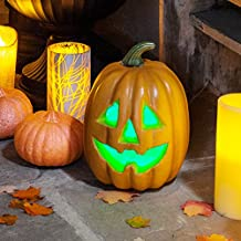 Color Changing LED Battery Operated Halloween Pumpkin Light Decoration, Batteries Included
