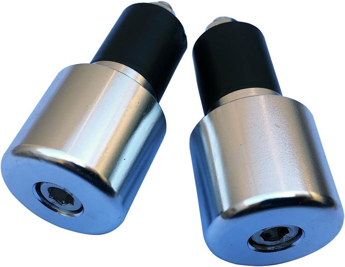 Chrome Silver 7//8 CNC Aluminum Handlebar End Weights Caps Plugs Sliders for 2007 Honda Rebel 250