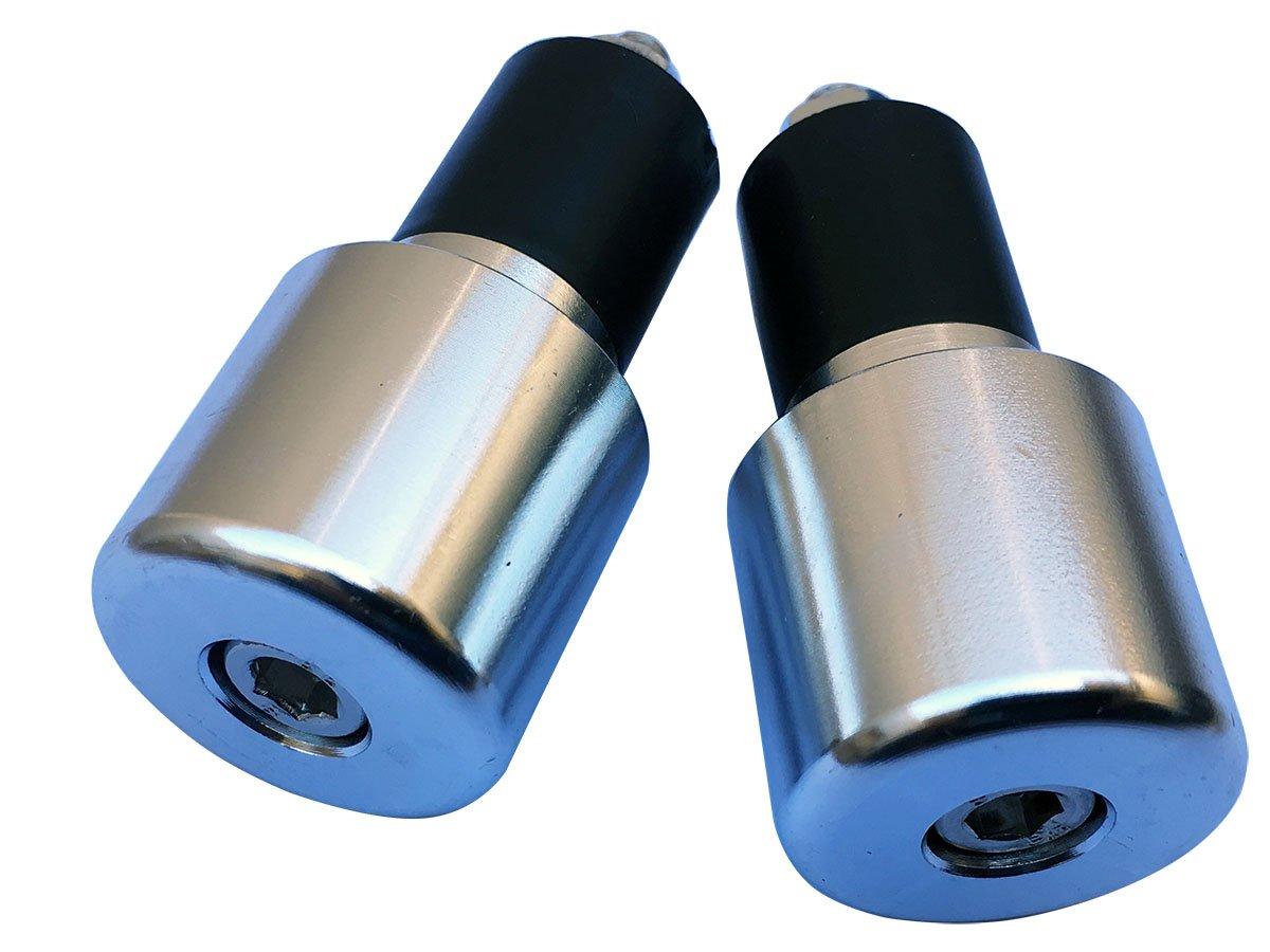 Chrome Silver 7//8 CNC Aluminum Handlebar End Weights Caps Plugs Sliders for 2014 Honda Shadow Aero 750