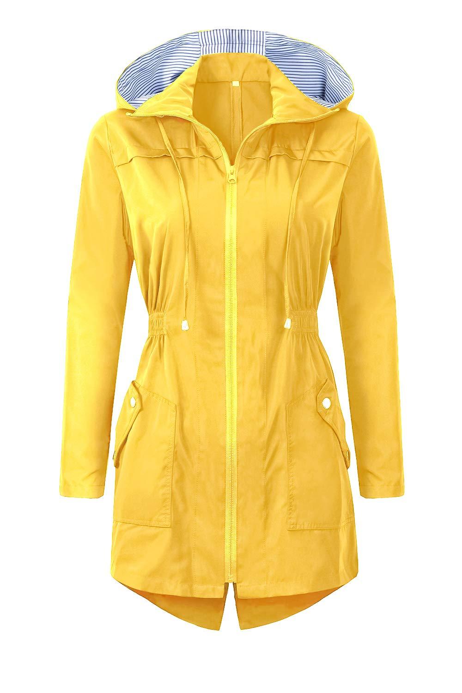 BBX Lephsnt Womens' Waterproof Lightweight Raincoat Hooded Outdoor Hiking Long Rain Jacket by BBX Lephsnt