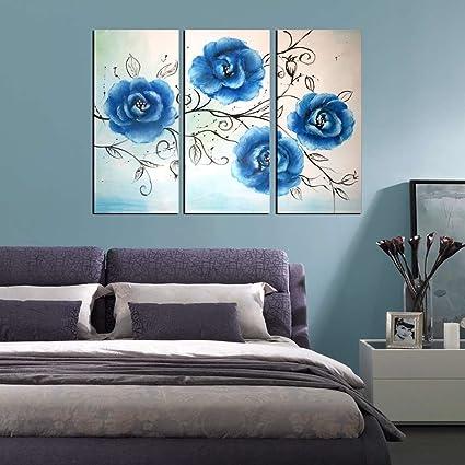 Amazon.com: ARTLAND Modern 100% Hand Painted Flower Oil Painting on ...