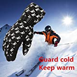 FidgetFidget Gloves for Outdoor Adult Winter Warm Waterproof Windproof Snow Snowboard Ski Sports Black