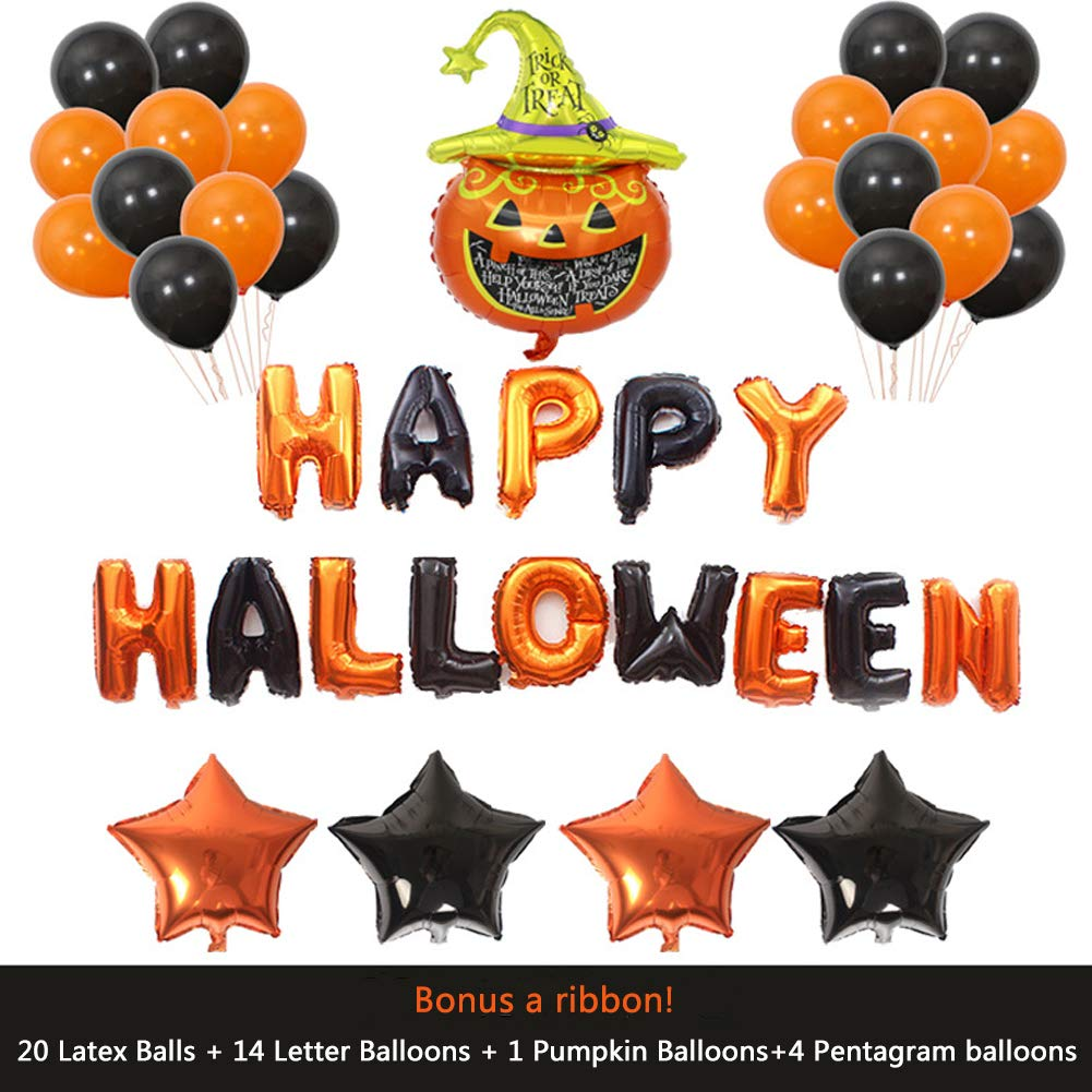 Some Halloween Thoughts About Specter >> Amazon Com Suzm Halloween Balloon Decorations Pumpkin Bat Specter