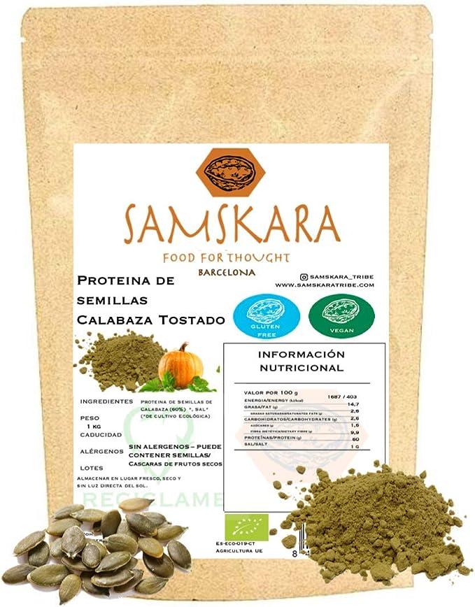 Proteina de Semillas de Calabaza Tostada (60% proteico) en ...