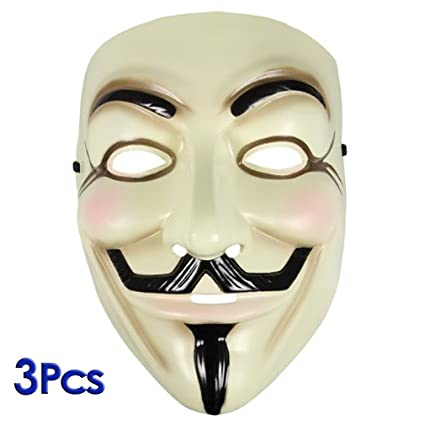 Mascara - SODIAL(R) Mascara de Guy Fawkes EV a IE para Mascara Vendetta