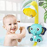 SUNWUKING Baby Bath Toys Electric Elephant Animal Sucker Electric Shower Rain Head Kids Bathing Time Toddlers Game Toy 4…