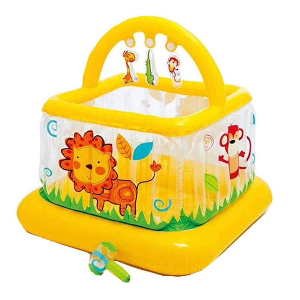 インフレータブルキャッスル屋内子供用おもちゃベビースポーツゲームハウスギフト - 20ボールを含む B07TKZSC34 yellow 117*117*117cm