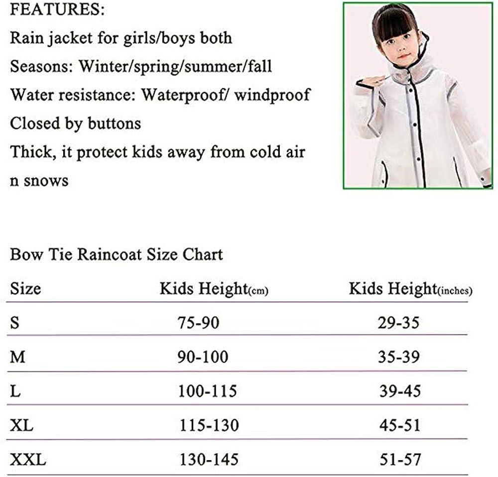 Mini Balabala Bambini Pioggia Cappotto Unisex Impermeabile Coprizaino Poncho Giacca Kids Raincoat con Cappuccio per Ragazze Ragazzi