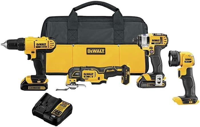 DEWALT 20V MAX Cordless Drill Combo Kit, 4-Tool (DCK444C2)