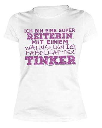 Tinker Spruche Motiv Damen Shirt Super Reiterin Fabelhaften