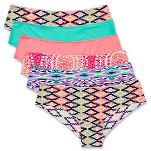 Lea by Lili Pink Hipster Brief (Playful, 6 Pack, M)