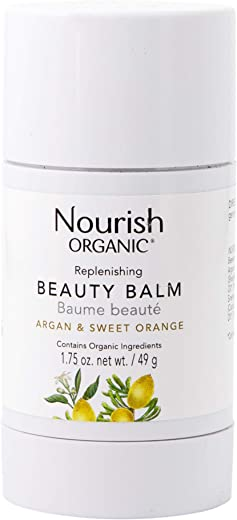 Nourish Organic | Replenishing Beauty Balm - Argan & Sweet Orange | GMO-Free, Cruelty Free, USDA Certified Organic (1.75oz)