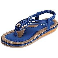gracosy Sandalias Planas Verano Mujer Estilo Bohemia Zapatos
