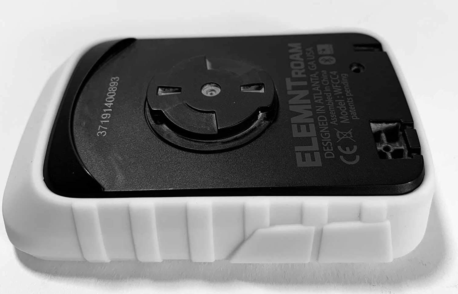 White TUFF LUV Tough Silicone case and Screen Protection Compatible with Wahoo ELEMNT ROAM GPS