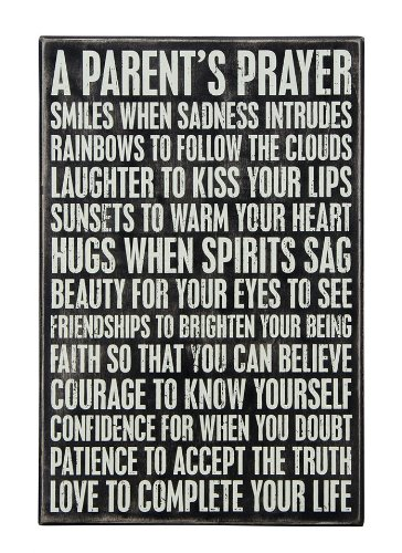 Primitives by Kathy Box Sign, 12 by 8-Inch, Parent's Prayer (Sign Prayer)