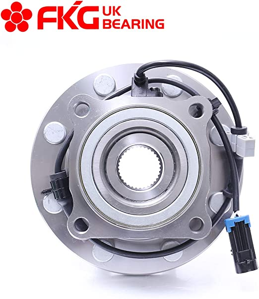 4WD ONLY FKG 515058 Front Wheel Bearing Hub Assembly fit for 1999-2006 Chevy Silverado Avalanche Suburban GMC Sierra Yukon 1500HD 2500 2500HD 2003-2007 Hummer H2