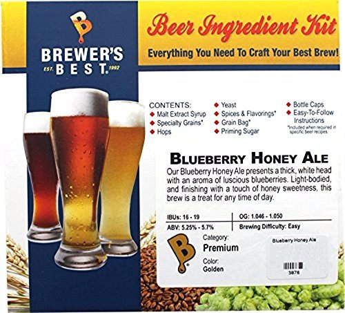 Brewer's Best Home Brew Beer Ingredient Kit, 5 gal (Blueberry Honey Ale)