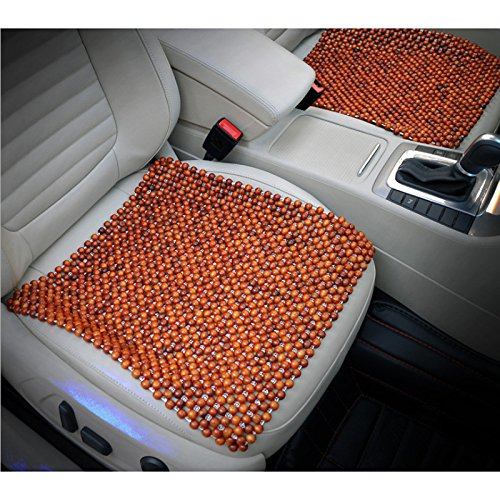 - HomDSim Wood Beaded Auto Car Seat Cover,Natural Rosewood Wooden Bead Cool Refreshing Back Massaging Comfort Cushion Mat,Premium Quality Universal for Car Truck on Summer (Square mat)