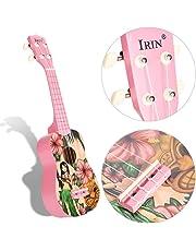 Ukulele, 21inch Portable Wooden Ukulele Pattern Soprano Starter Kit Musical Instrument with bag for Girls Children Kids Students Beginners