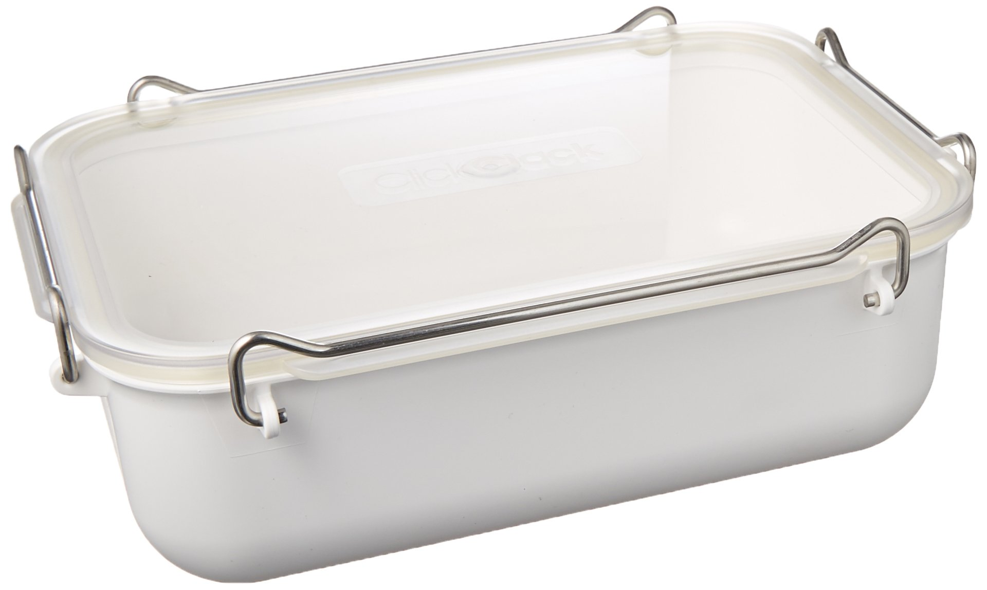 ClickClack Everyday Storage Container, 1.4-Quart, White