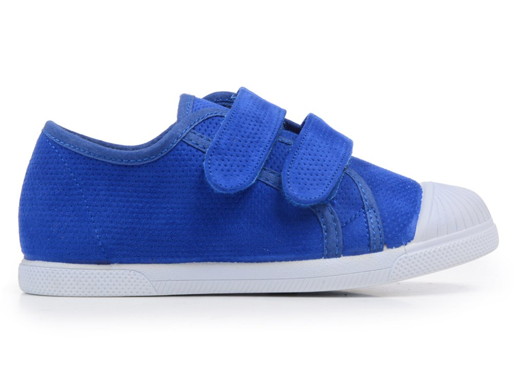 ChildrenChic Electric Blue Punched Suede Sneakers For Boys and Girls Shoes Electric Blue 2 M US Little Kid EU 33