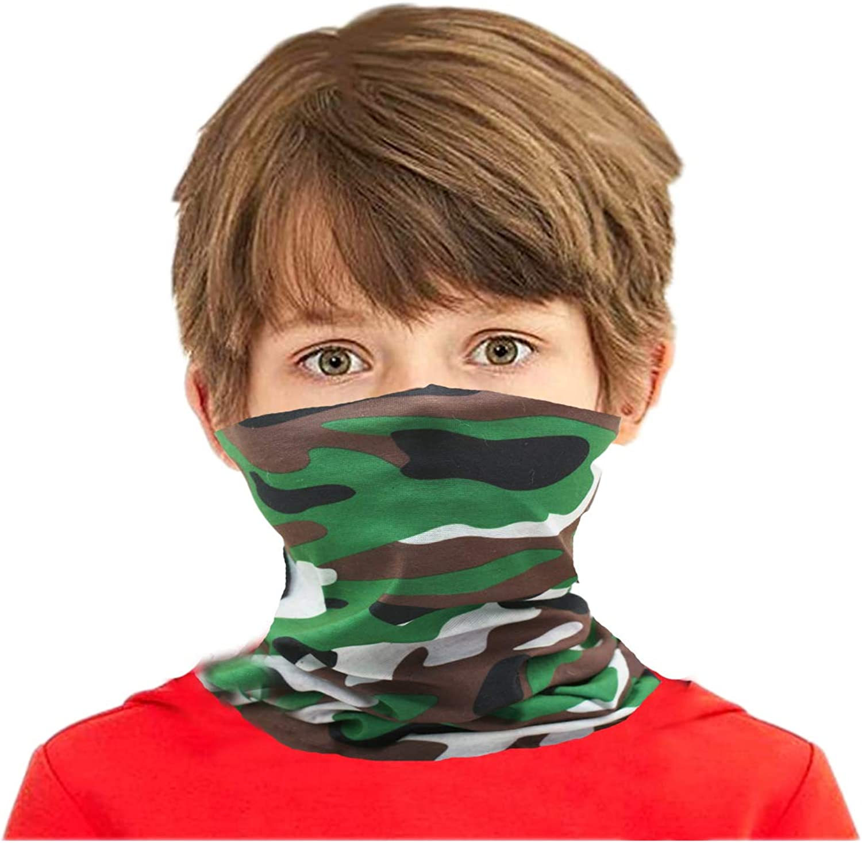 Congralala 4 Pack Boys Girls Bandanas Neck Gaiter Kids Face Mask Magical Multi Funtion UV Protection Headband