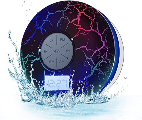 Wireless Bluetooth Shower Speakers KGG IPX7 Waterproof Portable Bluetooth Speakers FM Shower Radio