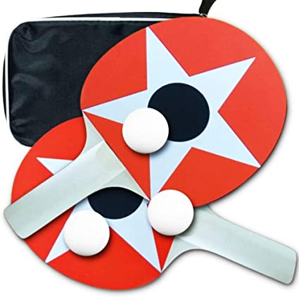 Table Tennis Set,2 Ping Pong Paddles and 3 Ping Pong Balls for Beginners and Kids