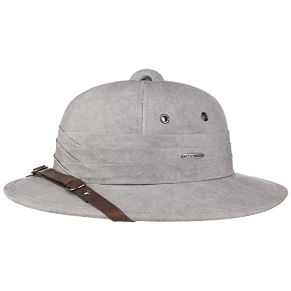 a14ad007 Stetson Salonga Cotton Pith Helmet Summer hat Outdoor (L (58-59 cm) -  Grey-Mottled): Amazon.co.uk: Clothing