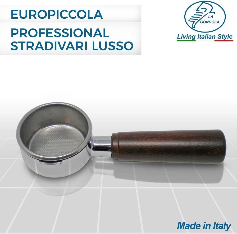 incluye filtro para 2 tazas Portafiltro sin fondo para cafeteras expreso de palanca Europiccola Professional Stradivari Lusso La Gondola