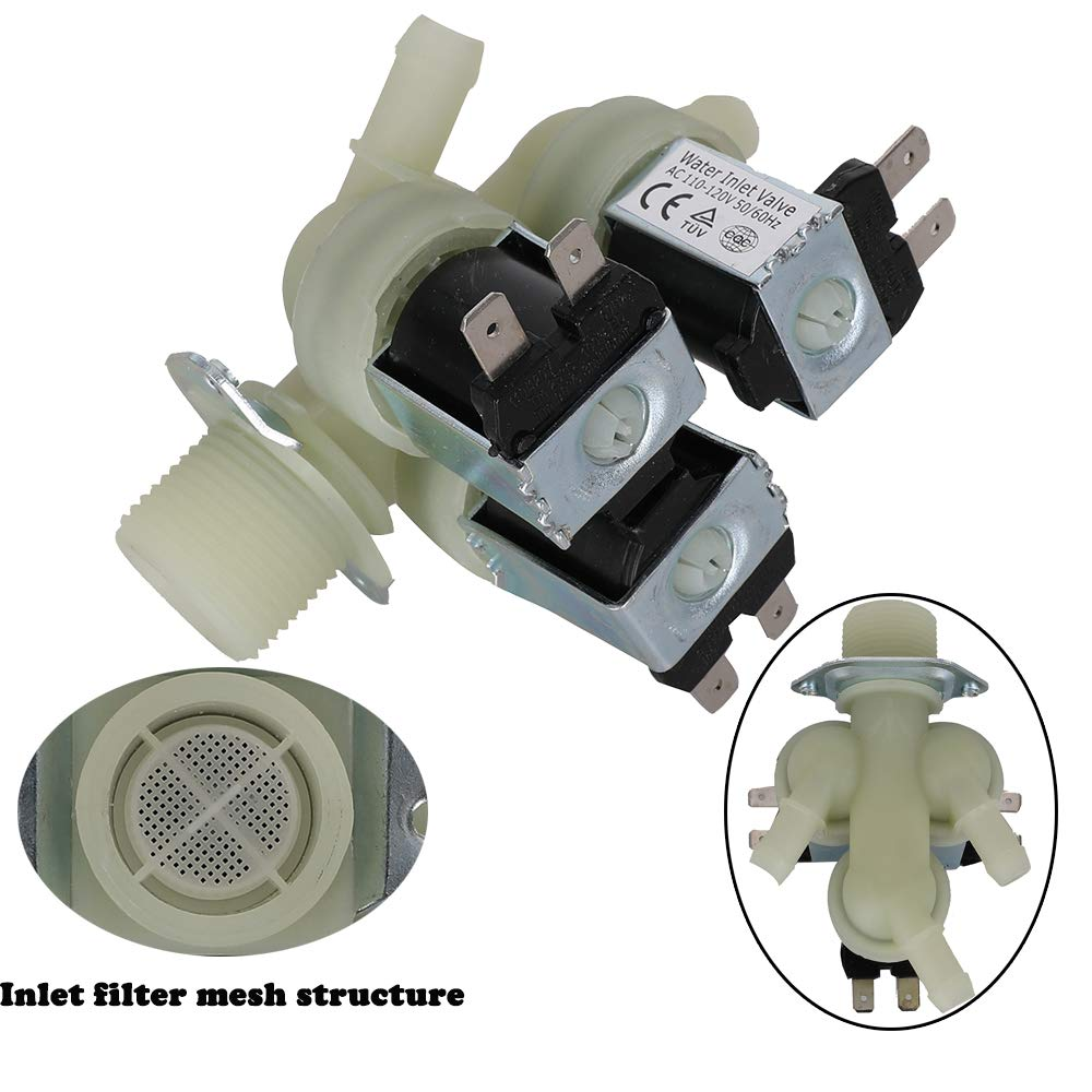 Cold Water Inlet Valve for LG Kenmore Washer Washing Machine Replace-5221ER1003A 5221ER1003C 5221ER1003D 5221ER1003F