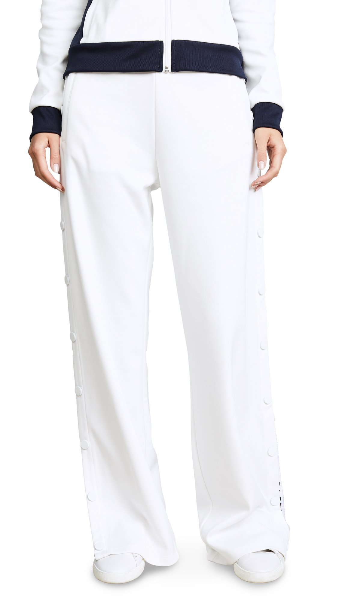 Tory Sport Women's Banner Tear Away Track Pants, Snow White, Large