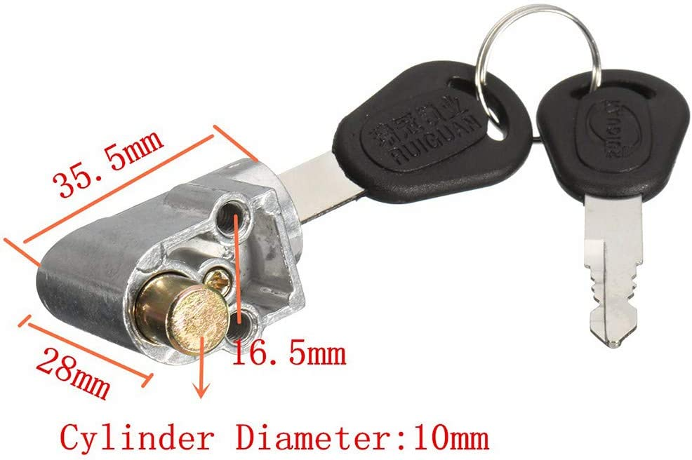 2 key For Motorcycle Electric Bike Scooter E-bike  HYI Ignition Lock