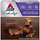Atkins Milk Choco Caramel Squares. Delicious Low-Sugar Treats with Choco and Caramel. (15 Pieces)