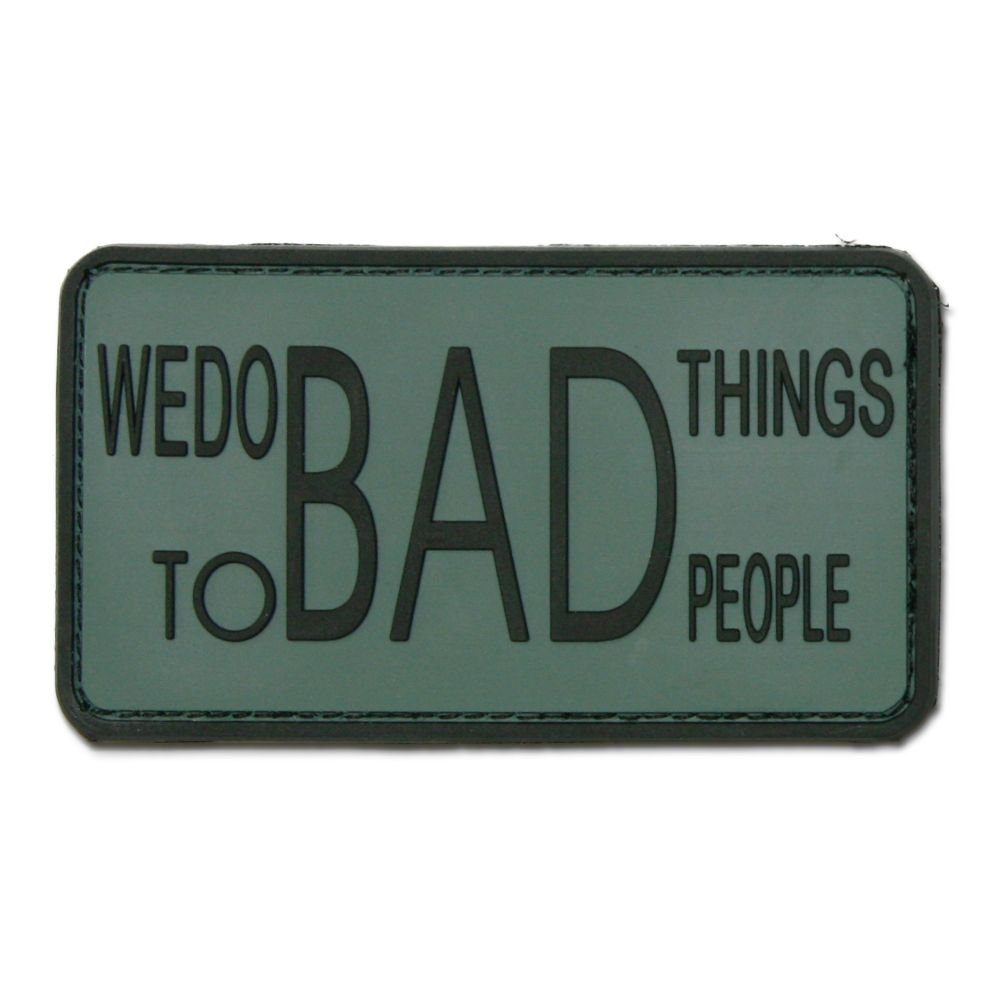 3d di patch We Do Bad Things To Bad People Foliage Jackets To Go