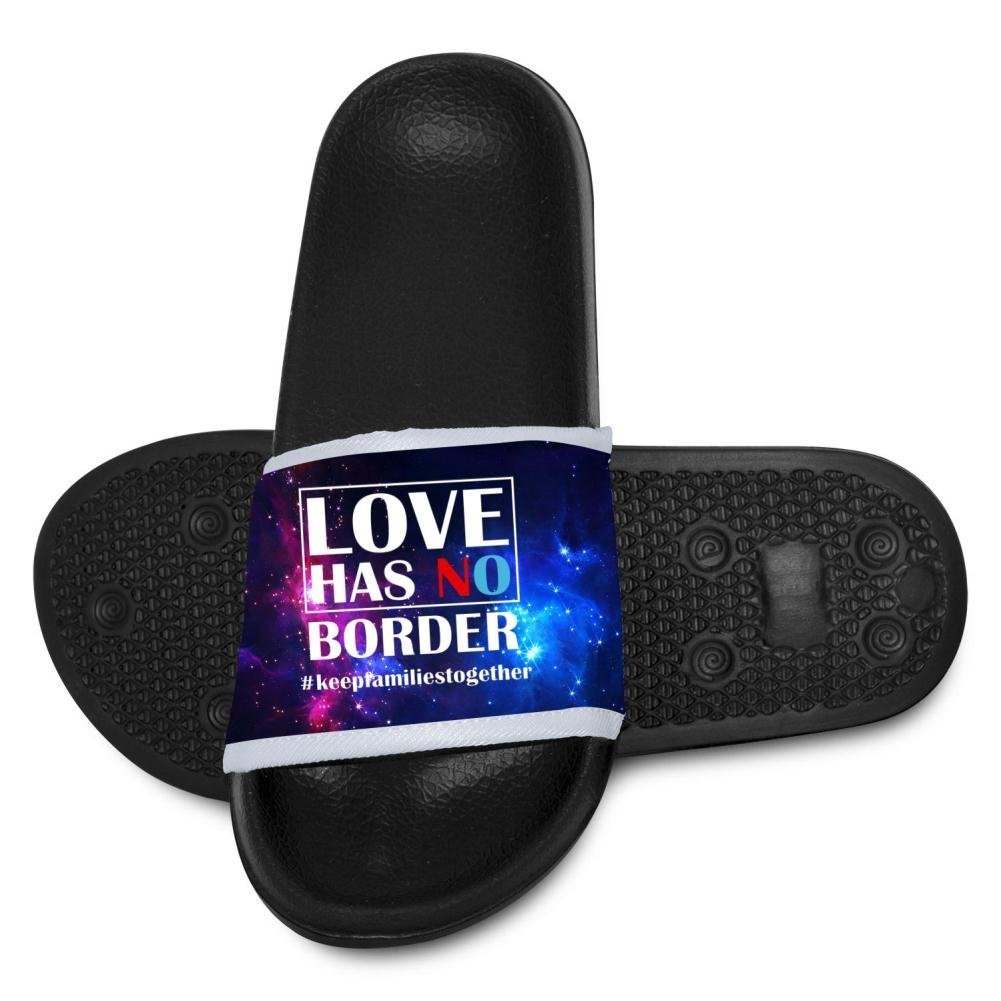 Love Has No Border#Keep Families Together Slippers for Boy Girl Indoor Outdoor Casual Sandals Shoes