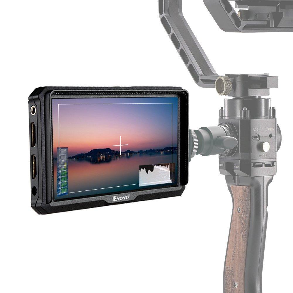 Eyoyo A5 5インチ フィールドモニター デジタル一眼レフカメラ用 IPSモニター 1920x1080 170°広角 HDMI 4K入力 118g軽量 外付けモニター 撮影用 A5 5インチ  B07DWRNPPT