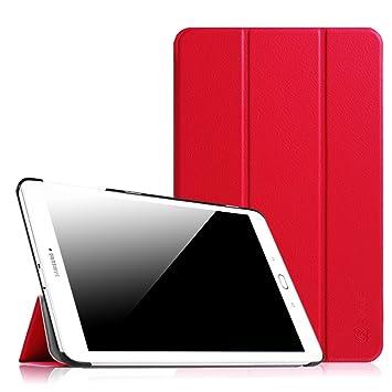 Fintie SlimShell Funda para Samsung Galaxy Tab E 9.6 - Súper Delgada y Ligera Carcasa de Cuero Sintético con Función de Soporte para Modelo SM-T560N / ...