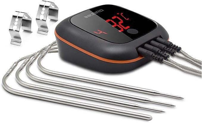 Inkbird Ibt 4xs Bluetooth Thermometre Cuisine Sans Filbase Magnétiquerotation Ecranthermometre Exterieur Pour Four Barbecue Electrique Fumoir