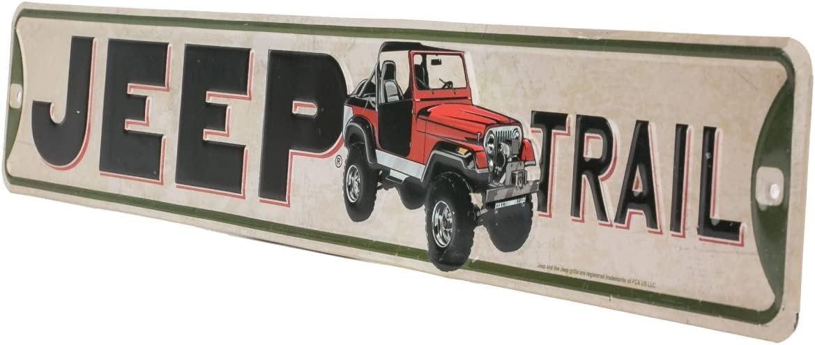 JEEP Jeep Four Wheel Drive Metal Sign Wrangler Rubicon Gas Garage Tin Decor Wall