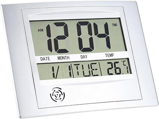 Relojes Meteorológicos Termómetros Medidor Electrónico Despertador Digital de Temperatura Calendario en Pared Digital: Amazon.es: Hogar