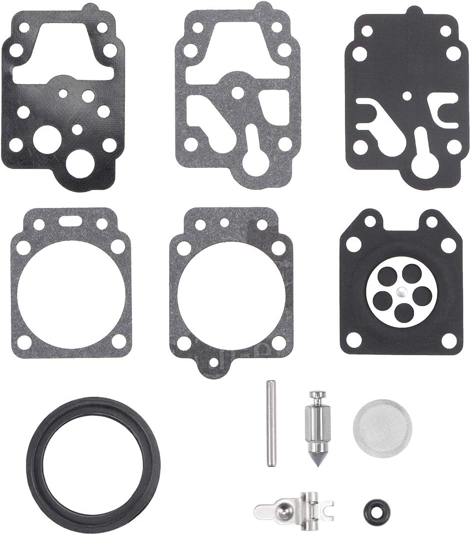 sourcing map K20-WYJ Carburatore Ricostruzione Kit Gommino Diaframma per Walbro K10-WYB K20-WYJ D20-WYJ Echo Homelite Motori Carb 2pz