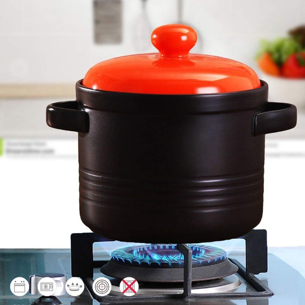 DUDDP Batería de Cocina Ollas de Sopa de cazuela de cerámica Fuego ...