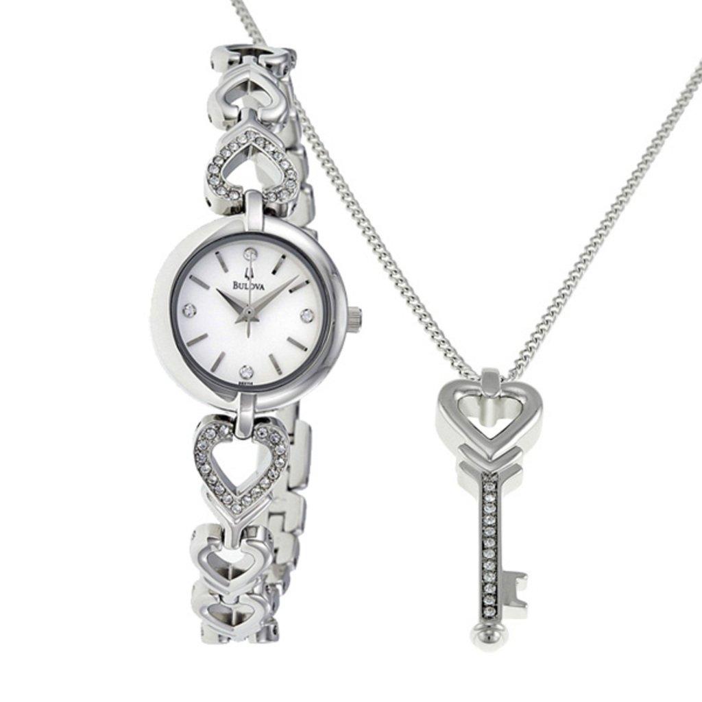 Bulova Ladies Box Set Necklace and Watch 96X114