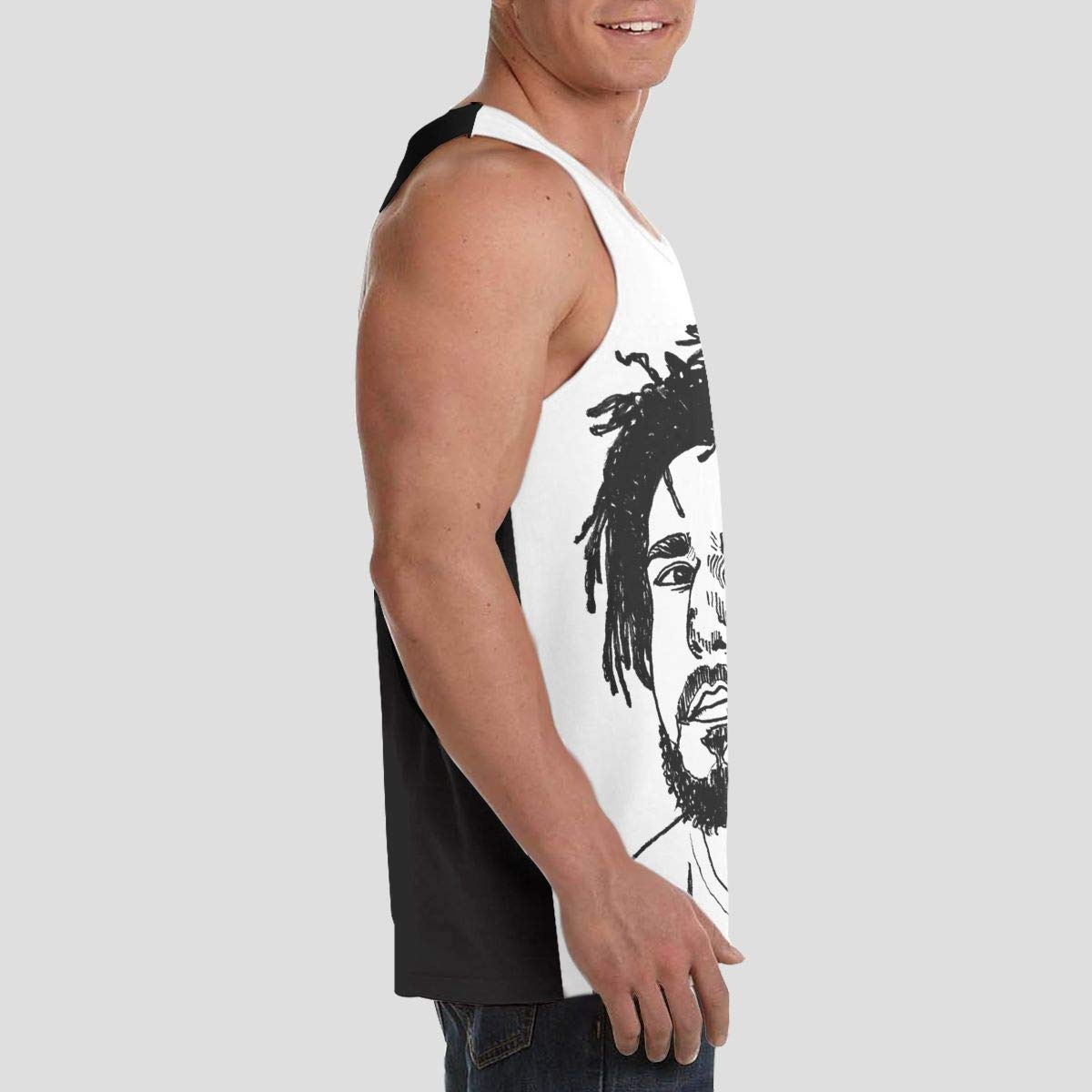 J Cole Mans Easy to Wear Sleeveless Tank Vest T-Shirt