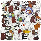 We Bare Bears Laptop Stickers, Cute Cartoon Vinyl Computer Waterproof Water Bottles Skateboard Luggage Decal Graffiti Patches Decal 42Pcs Pack