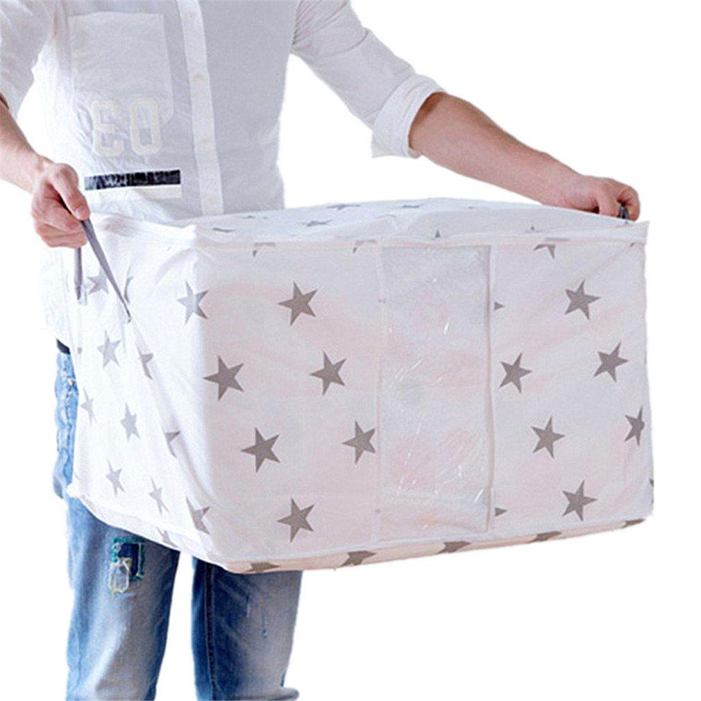 Amazon.com: KIEJDH Dot/Star Non-Woven Fabric Clothes Organizer Storage Box Visible Socks Bra Blanket Pouch Storage Bag Case 30Jy14 DOT 42x27x50cm: Home & ...